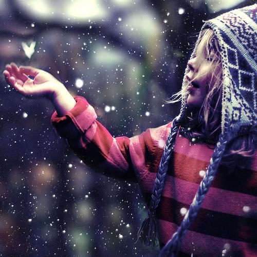 雪の女の子